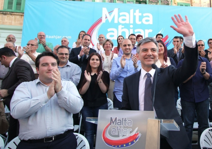 Former far-right apologist reappears next to Busuttil